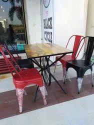 New Standard Iron metal Chair Set, Seating Capacity: 4