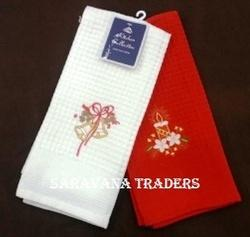 Plain And Printed Embroidery Kitchen Towel