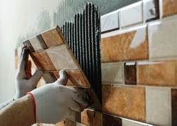 For Indoor And Outdoor Tile Fixing Service, Thickness: 10 - 12 mm