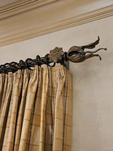 curtain rod finials fancy curtain rod