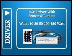 10 watt RGB Driver With Remote & Sensor (IP65)