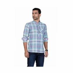 Mens Cotton Kurta Shirt, Size: M, L & XL