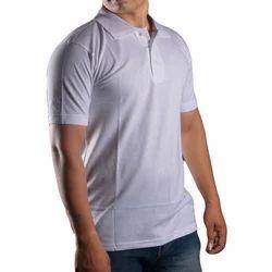 Men's Plain White Collar T-Shirt