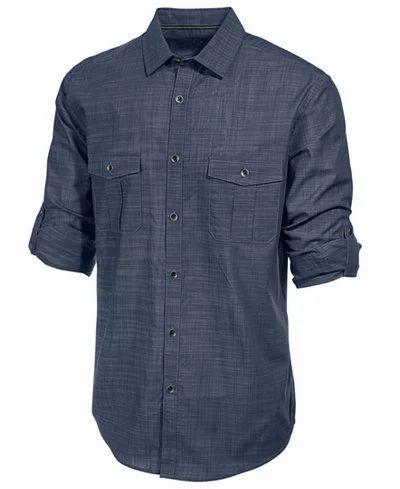 Mens Full Sleeves Plain Shirt, Size: 38 to 44