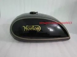 New Norton Commando Interstate Black Painted Steel Petrol Tank