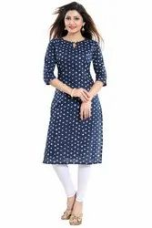 Straight-Cut Cotton Kurti