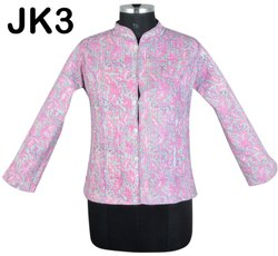 Cotton Hand Printed Reversible Short Jackets Coat JK3