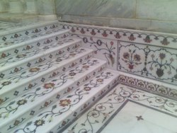 Marble Stair Inlay Work