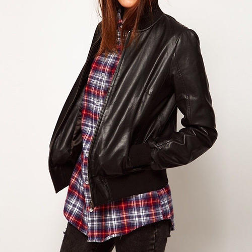 06407c925d0 Women s Black Leather Bomber Jacket at Rs 7499  piece