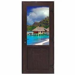 Brown UPVC Casement Door