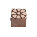 Wooden Square Henna Printing Stamp