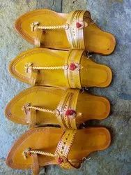 Women Genuine Leather Typical Kolhapuri Chappal