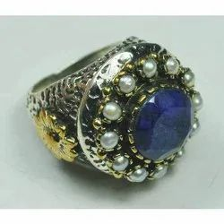 Sapphire Silver Rings