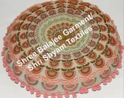 Decorative Seating Mandala Embroidery Round Floor Cushion Bed Throw Meditation Pillow Cover -