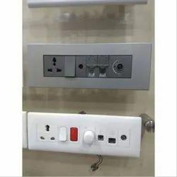Abs 16 Amps Modular Electric Switch Board, Single Regulator, Ip 54