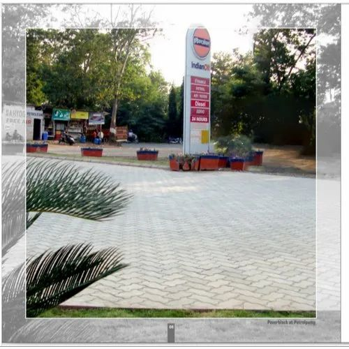 Grey Concrete Zigzag Paver Blocks, Thickness: 80 mm, for Landscaping
