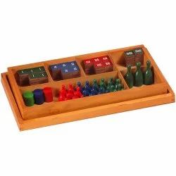 Wooden Stamp Game / Montessori Stamp Game /Montessori Maths Material, Child Age Group: 3