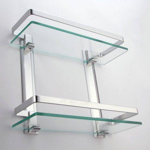Elegant Glass & Stainless Steel Glass Shelf