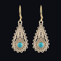 Tribal Brass Silver Plated Boho Belly Dancing Dangle Earring
