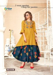 Formal Wear 3/4th Sleeve Kurti, Handwash