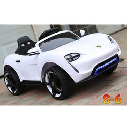 White Battery Operated Toy Car