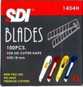 Sdi Cutter Blades 1404h 18 Mm, Available Sizes: 9 And 18 Mm