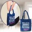 Light Weight Soft Jeans Girls Tote Bag Shoulder Handbag