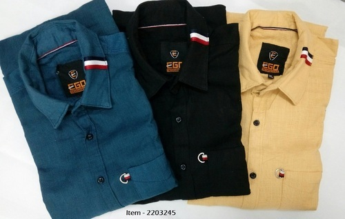 cotton plain shirt for men at rs 245 piece bhadra ahmedabad