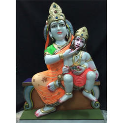Mata Anjani with Hanuman Statue