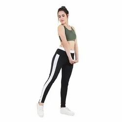 Black Track Pant with White Patti