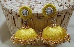 Handmade Silk Thread Jhumka