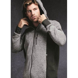 Black And Grey Large & XL Men's Hooded Jacket