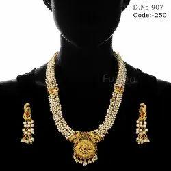 Pearl Temple Jewellery Set