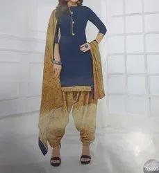 Cotton Casual Wear Punjabi Suits
