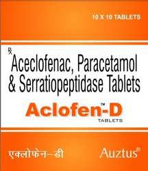 Serratiopeptidase 15 mg, Aceclofenac 100mg & Para 325mg Tablets