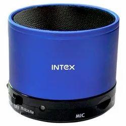 Blue, Black Intex Bluetooth Speaker, 3w