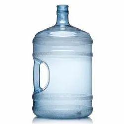 Blue Cylindrical Plastic Water Dispenser, Capacity: 20 Lit