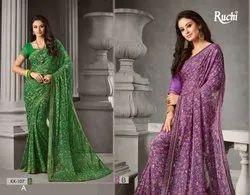 Ruchi Kitkat Series KK101-KK110 Stylish Party Wear Chiffon Saree