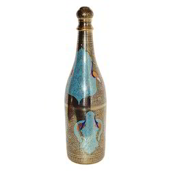 Multicolour Brass Wine Bottle