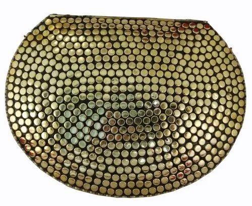 09b9d9a0e92f5 Party NK Stunning Handmade Brass Metal Purse Clutch Evening Bag Gold ...
