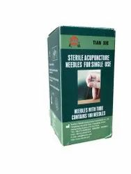 Sterile Acupuncture Needles With Guide Tube 0.25 Into 60 Mm 2 And Half Chun