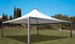 PVC And FRP Tensile Gazebo Structure