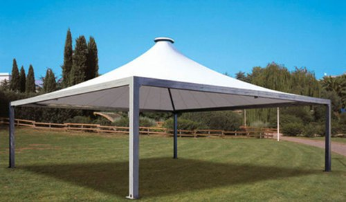 Pvc and frp tensile gazebo structure at rs 350 square feet