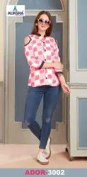 Ador Vol-3 By Aliksha Dress Fancy Ladies Tops, Size: M L XL