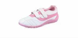 PVC Lancer Ladies Heena White - Pink Shoes