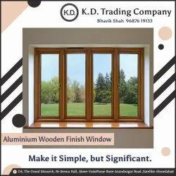 Aluminium Wooden Finish Window