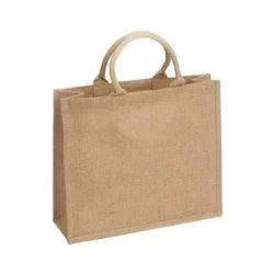 Brown Plain Jute Shopping Bags