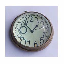 Brass Paper Weight Table Clock