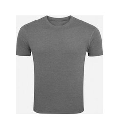 Grey Half Sleeve S Round Neck T-shirt, Size: Medium And Large