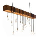 Suspended Wooden Log Lamp